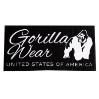 Gorilla Wear - Classic Gym Towel - Black/White