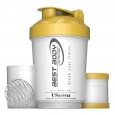 Best Body Nutrition - Eiweiß Shaker USBottle - weiß/gold